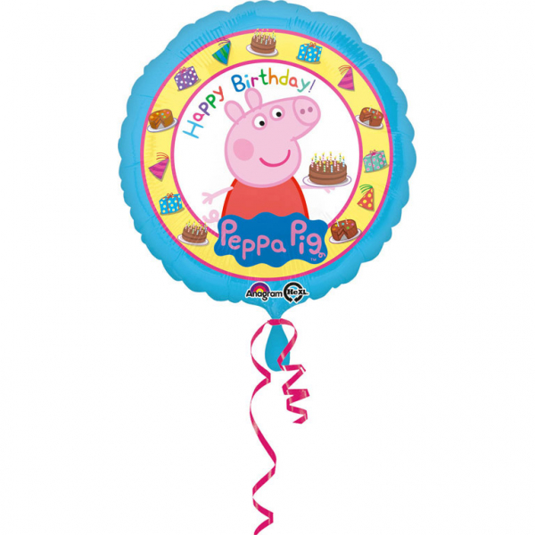 Folienballon Standard Peppa Pig Happy Birthday - 62672
