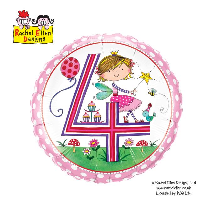 Folienballon Rachel-Ellen 4 Fairy Polka Dots