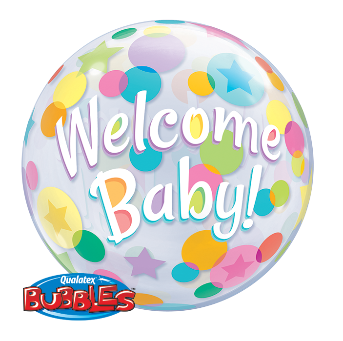 Bubble Welcome Baby Dots