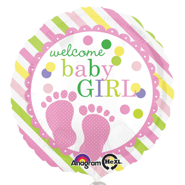 Folienballon Baby Feet Girl