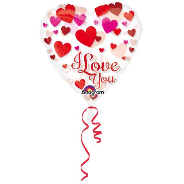 Folienballon See-Thru I Love You Herzen