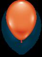 Latexballon orange- 1 Stück - Größe 11'