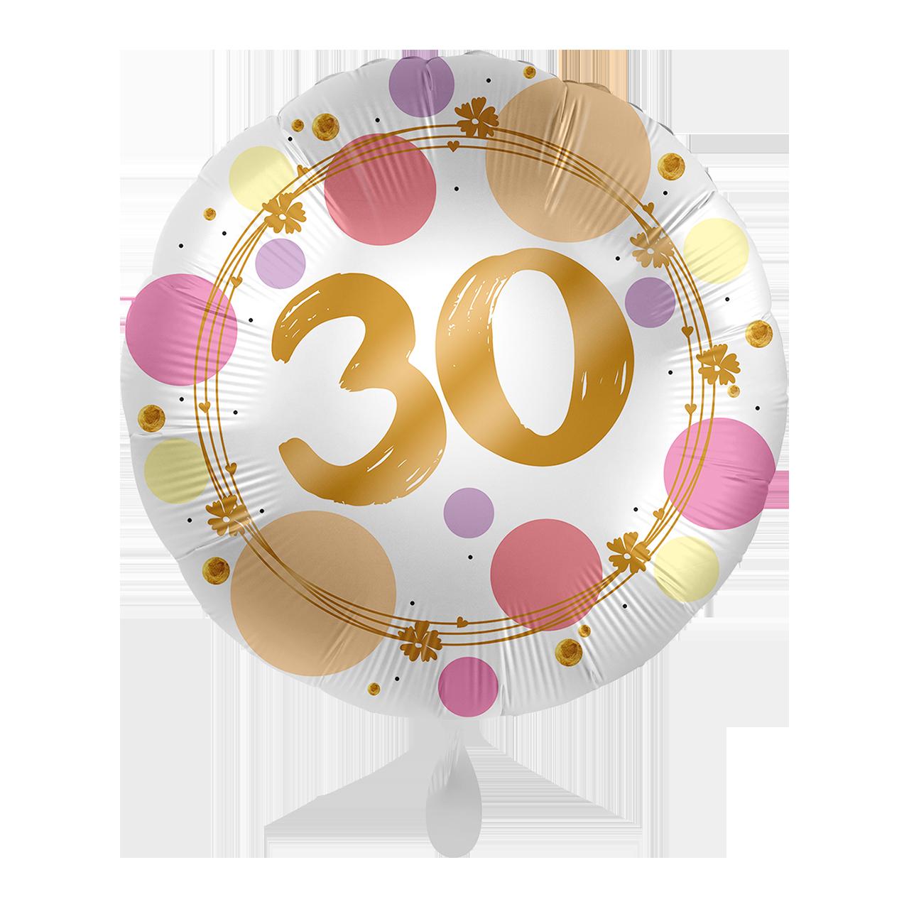 Folienballon Shiny Dots 30